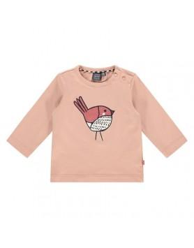 Μακρυμάνικο μπλουζάκι  για μωρά κοριτσάκια Babyface NWB21428605 faded salmon