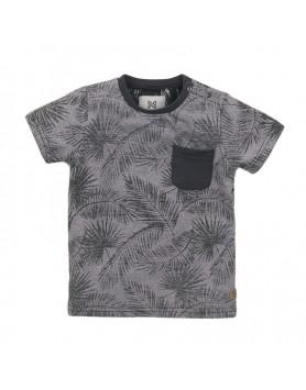 Μπλούζα  για αγόρια Kokonoko E38834-37 ΣΚΟΥΡΟ  ΓΚΡΙ